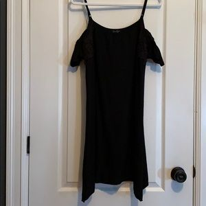 Black cold shoulder Jessica Simpson dress